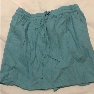 Light blue linen skirt